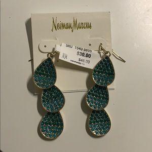 NWT Neiman Marcus Gold Dangle Earrings